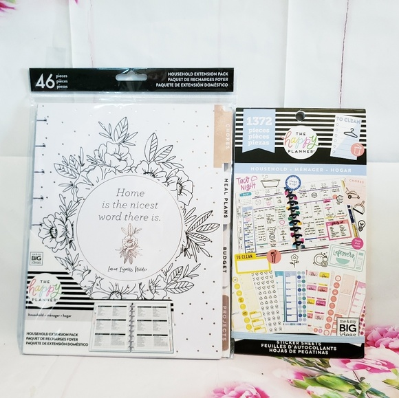 Household Extensions Pack & Sticker Happy Planner NWT